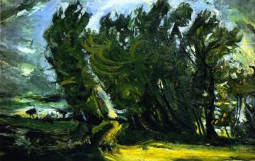 Windy Day, Auxerre Artwork by Chaim Soutine