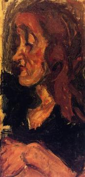 Head Of A Woman In Profile Artwork by Chaim Soutine