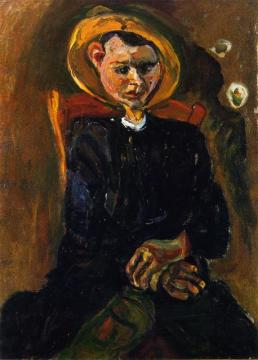 Boy With Yellow Hat Artwork by Chaim Soutine