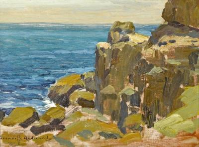 Rocky Cliffs, Catalina Island, 1920 Artwork by Granville Redmond