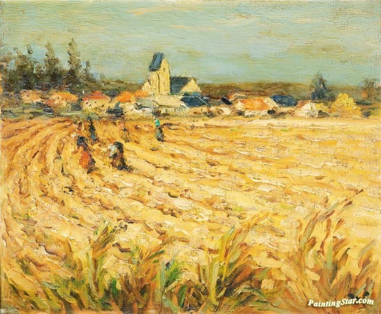 Work Van For Sale >> Gleaners In Wheat Field Artwork By Marcel Dyf Oil Painting ...