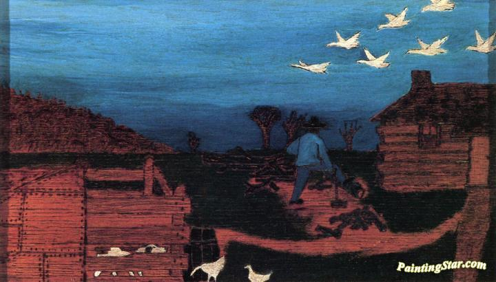 Autumn: Durham, North Carolina Artwork by Horace Pippin Oil ...
