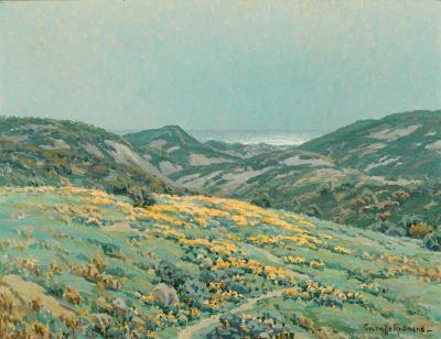 Poppies Along The Coast Artwork by Granville Redmond