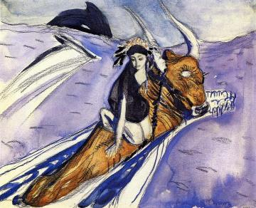 The Rape of Europe (sketch) Artwork by Valentin Serov