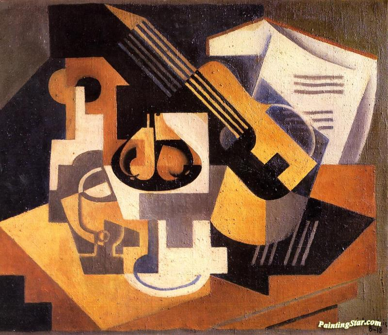 Harlequan by Juan Gris Giclee Fine ArtPrint Reproduction on Canvas