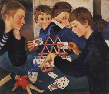 The House Of Cards Artwork by Zinaida Serebriakova