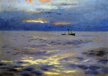 Atlantic Sunset Artwork by John Singer Sargent