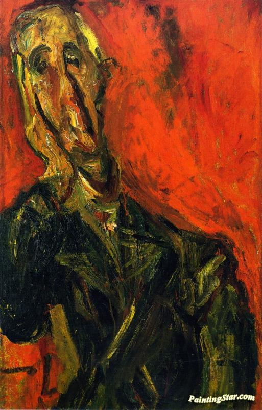 Man In A Green Coat Artwork by Chaim Soutine