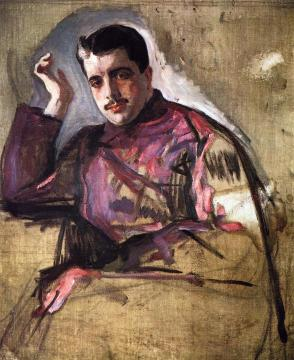 Portrait of Sergei Diaghilev (unfinished) Artwork by Valentin Serov