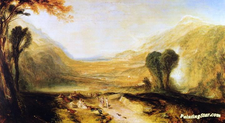 Story of Apollo and Daphne, Art Painting by Joseph Mallord William Turner