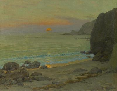 Catalina Sunrise, Lover's Cove Artwork by Granville Redmond