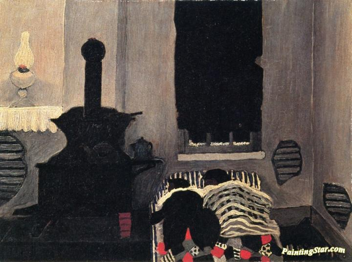 Asleep Artwork by Horace Pippin Oil Painting & Art Prints on ...