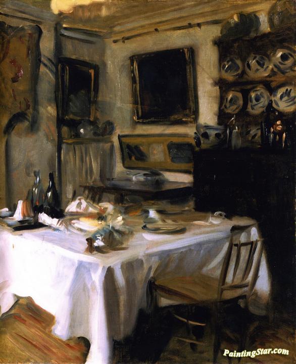 My dining room artwork by john singer sargent oil painting for Canvas painting for dining room