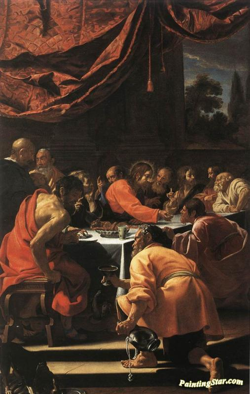 the last supper artwork by simon vouet oil painting art prints on