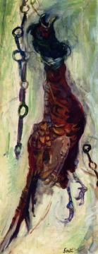 Hanging Pheasant (with Chains) Artwork by Chaim Soutine