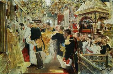 Confirmation Of Emperor Nicholas Ii Artwork by Valentin Serov