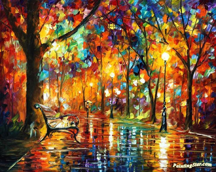 Consumed By Rain Artwork By Leonid Afremov Oil Painting ...