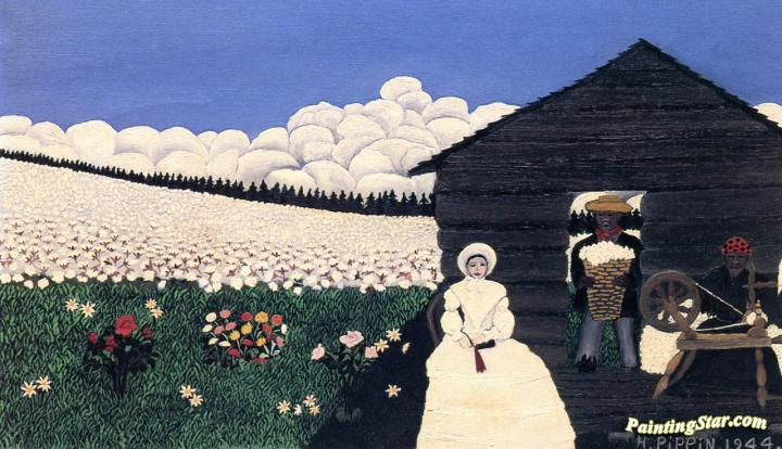 Cabin In The Cotton Iv Artwork By Horace Pippin Oil