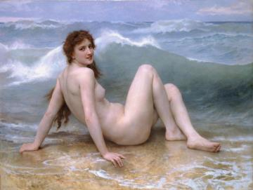 La Vague (the Wave) Artwork by William Adolphe Bouguereau