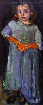 Little Girl In Blue Artwork by Chaim Soutine