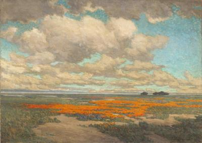 A Field Of California Poppies, 1911 Artwork by Granville Redmond