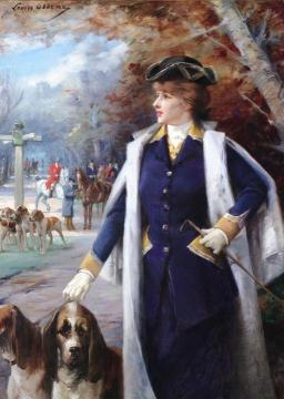 Sarah Bernhardt Hunting With Hounds Artwork by Louise Abbema