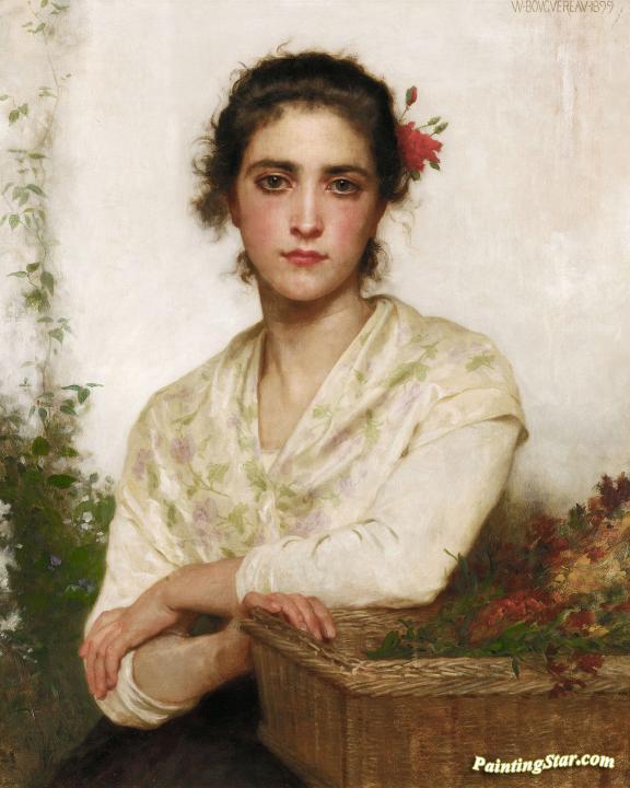 La Bouquetiere Artwork By William Adolphe Bouguereau Oil