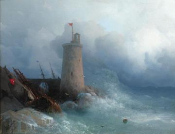 On The Rocky Shore Artwork by Ivan Constantinovich Aivazovsky