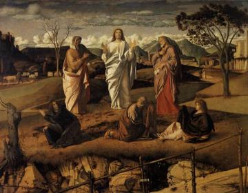 Transfiguration of Christ Artwork by Giovanni Bellini