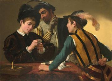 The Cardsharps Artwork by Caravaggio