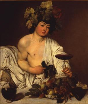 The Adolescent Bacchus Artwork by Caravaggio