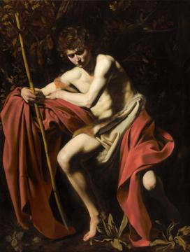 Saint John the Baptist in the Wilderness Artwork by Caravaggio