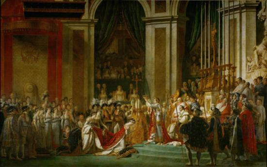 Consecration Of The Emperor Napoleon I And Coronation Of The Empress Josephine Artwork by Jacques Louis David