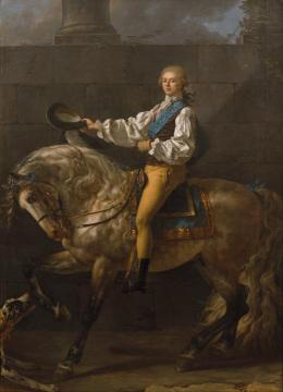 Equestrian portrait of Stanislaw Kostka Potocki Artwork by Jacques Louis David