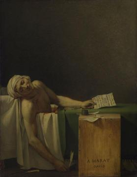 The Death of Marat Artwork by Jacques Louis David