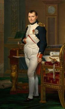 The Emperor Napoleon in his study at the Tuileries Artwork by Jacques Louis David