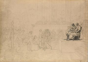 Study For The Execution Of The Sons Of Brutus Artwork by Jacques Louis David