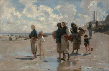 Fishing For Oysters At Cancale Artwork by John Singer Sargent