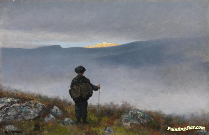 Soria Moria Slott Artwork By Theodor Kittelsen Oil