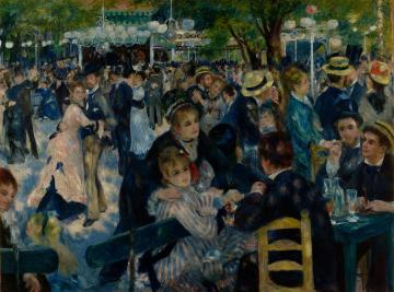 Dance At Le Moulin De La Galette Artwork by Pierre Auguste Renoir