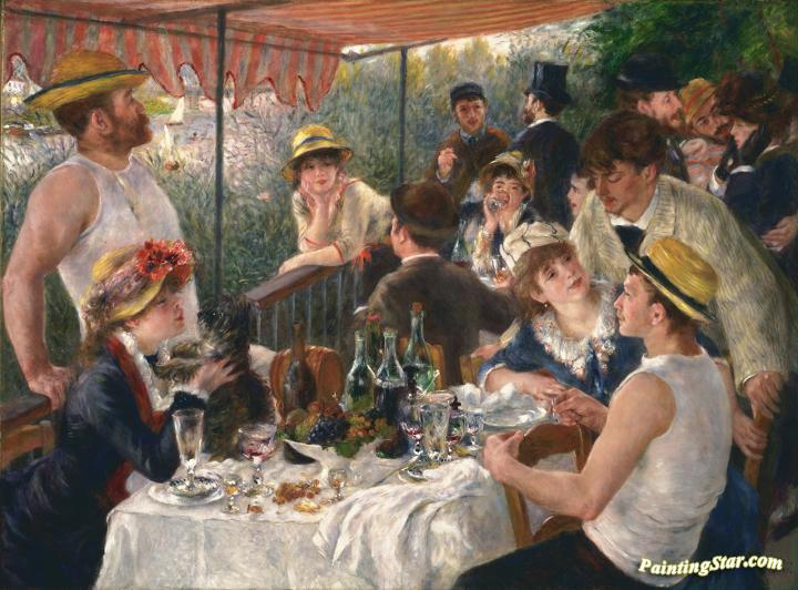 Luncheon of the Boating Party Artwork by Pierre Auguste Renoir