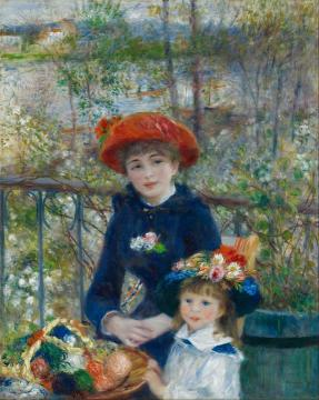 Two Sisters (on The Terrace) 1881 Artwork by Pierre Auguste Renoir
