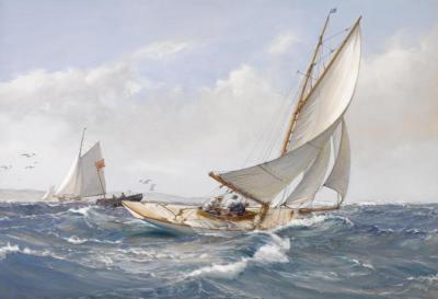 A Fair Wind Artwork by Montague Dawson