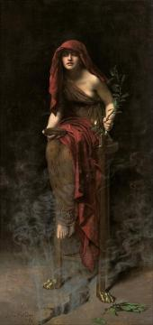 Priestess Of Delphi Artwork by John Maler Collier