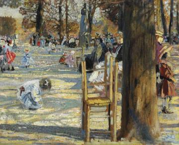 Luxembourg Gardens In Spring Artwork by Isaak Brodsky