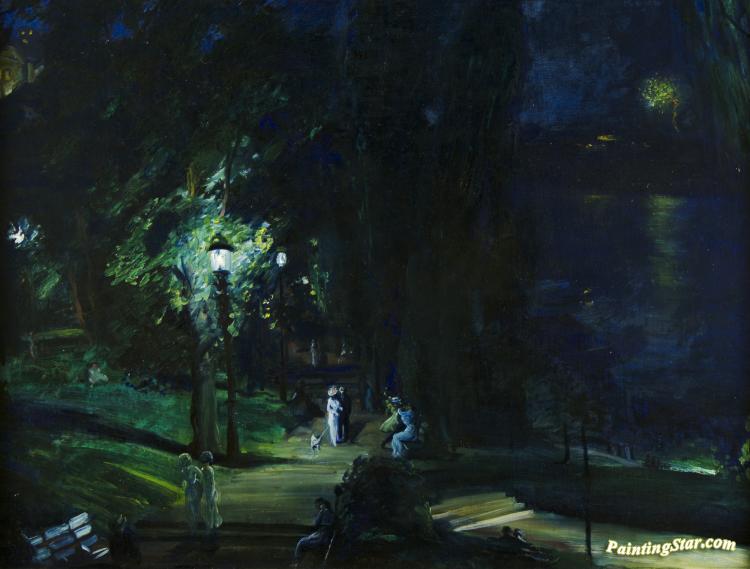 Summer Night Riverside Drive Artwork By George Wesley