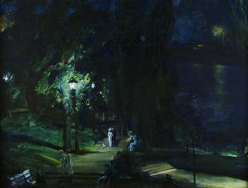 Summer Night, Riverside Drive Artwork by George Wesley Bellows