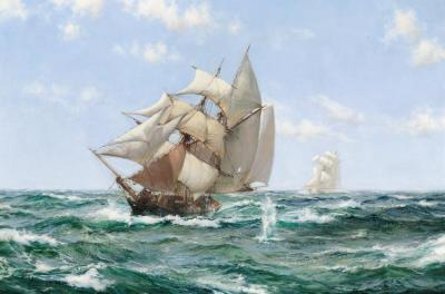 Rum Runner Artwork by Montague Dawson