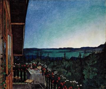 Summer Night Artwork by Harald Oskar Sohlberg