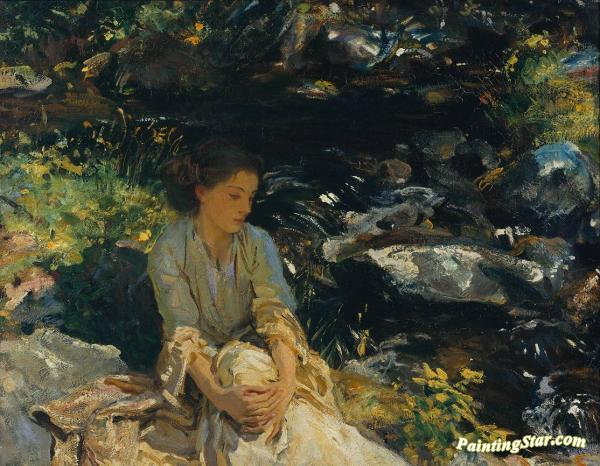 The Black Brook Artwork by John Singer Sargent
